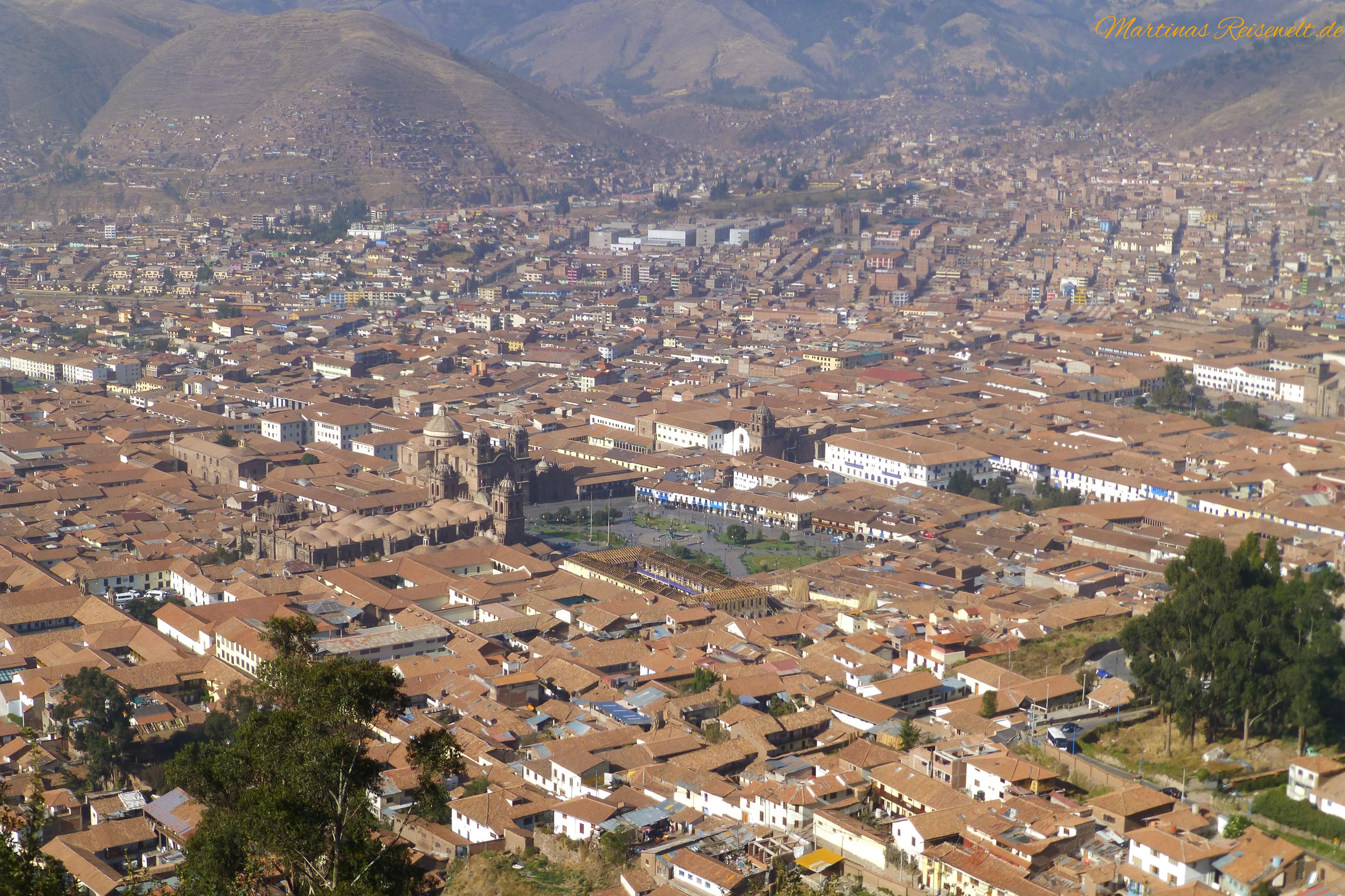 Aussicht vom Cristo Blanco auf Cusco