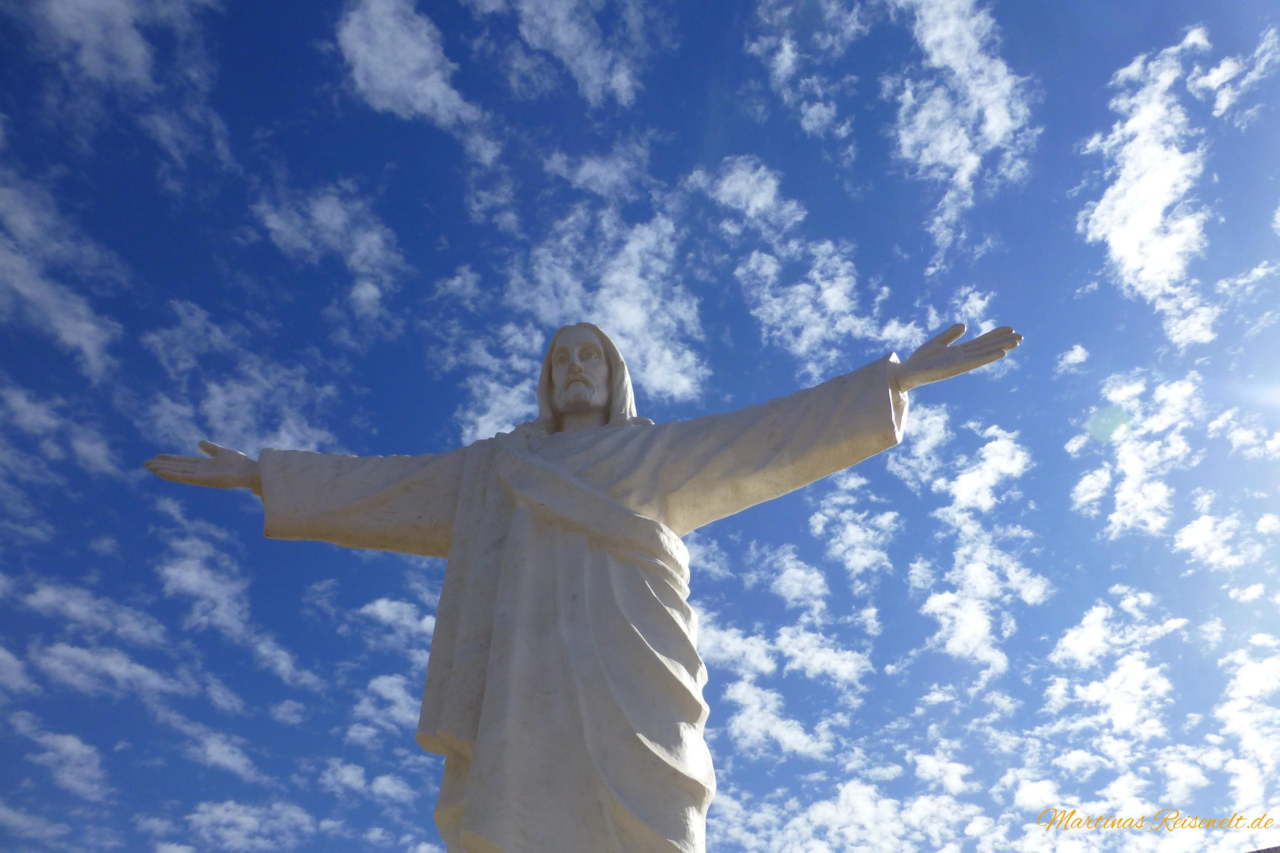 Cristo Blanco, wunderschön in weißer Pracht