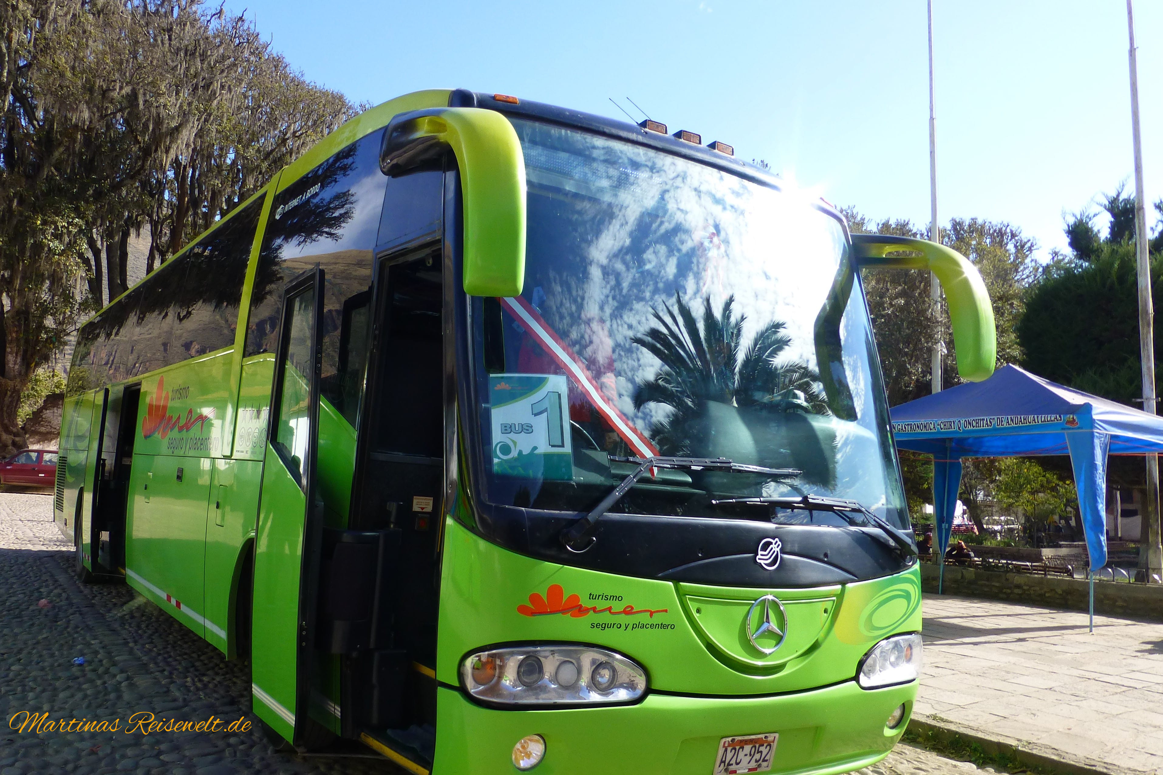 unser grüner Bus