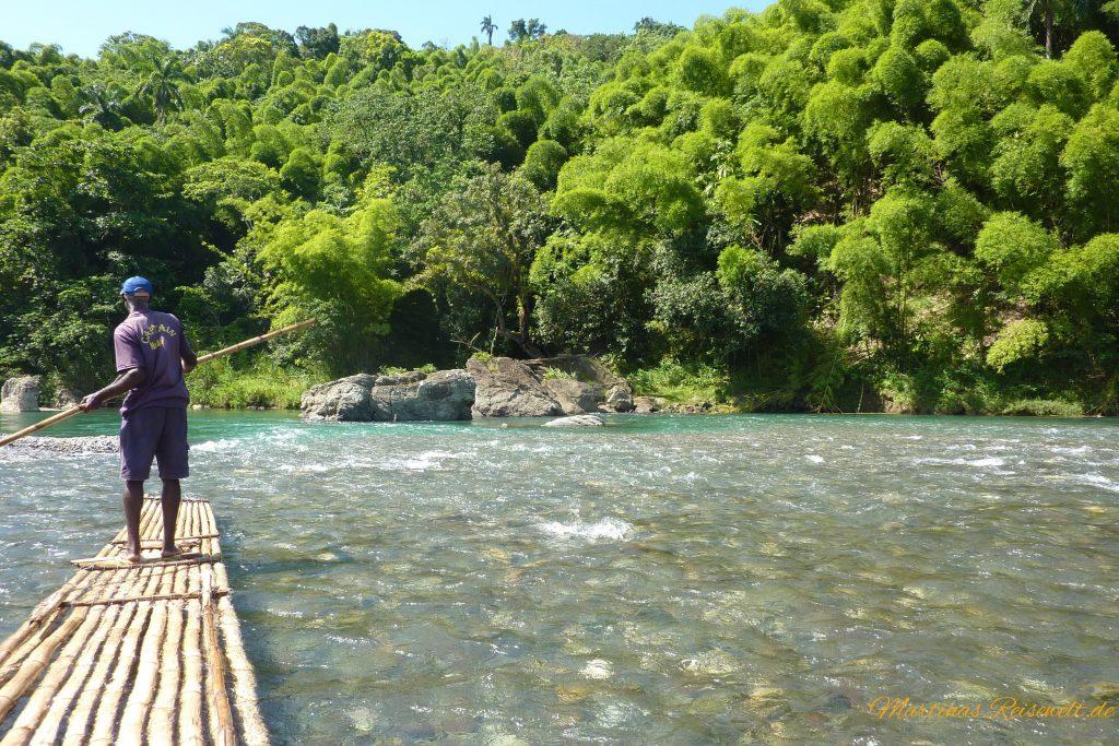 Bambusfloßfahrt auf dem Rio Grande