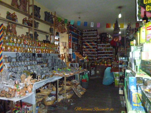 ein noch größeres Angebot findet sich in den kleinen Geschäften