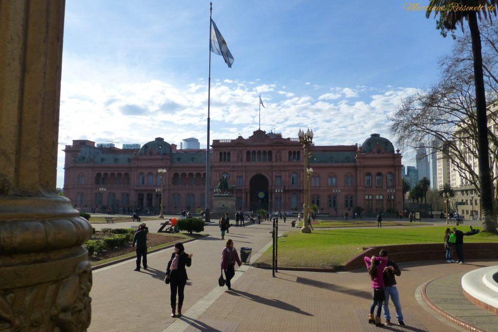 """der Präsidentenpalast """"Casa Rosada"""""""