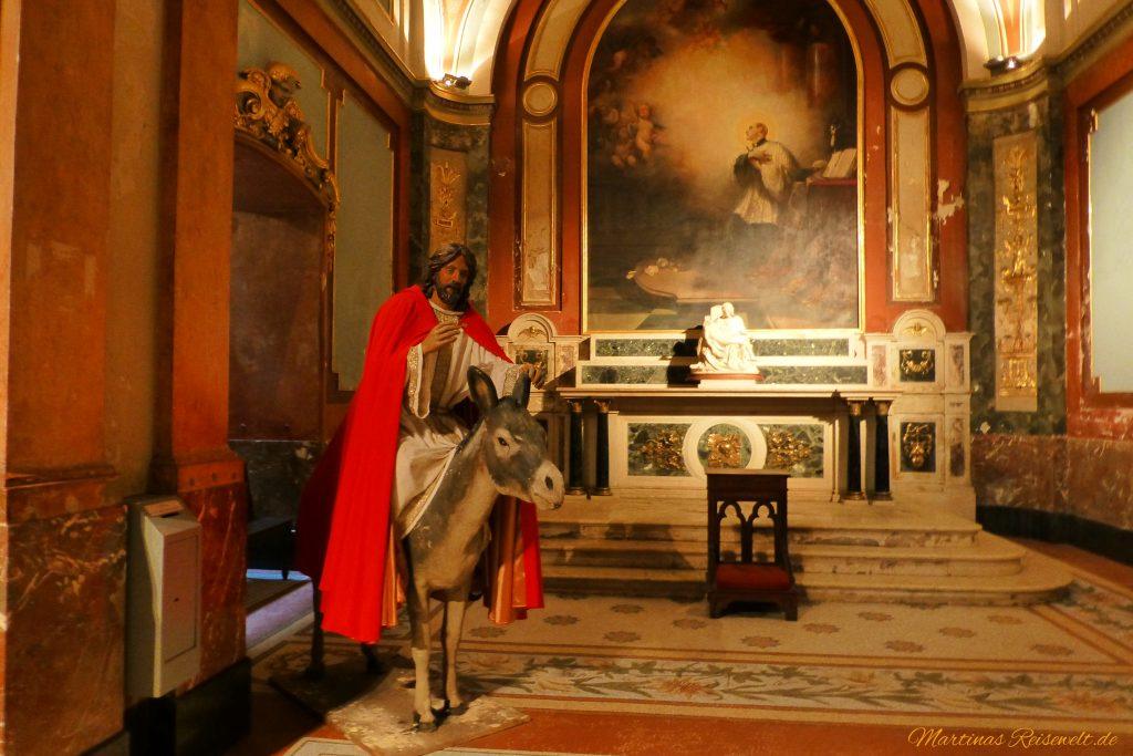 Jesus auf einem Esel