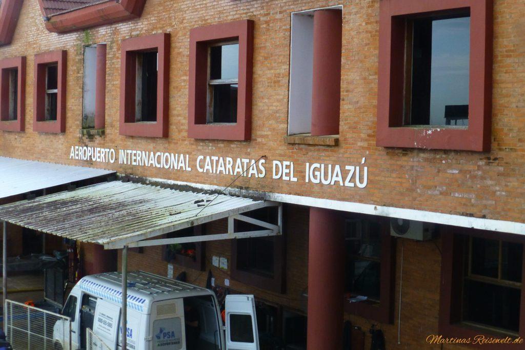 der kleine Flughafen von Iguazu