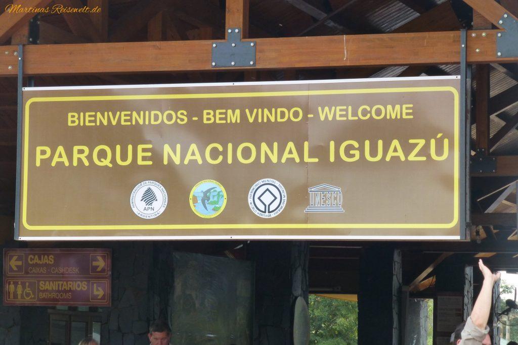 der Eingang zum Nationalpark Iguazu