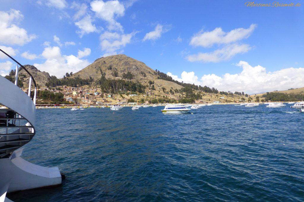wir verlassen den Hafen von Copacabana