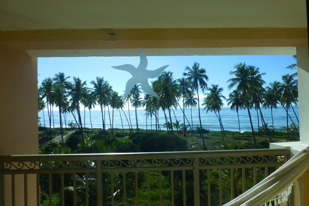 Balkon mit Hängematte