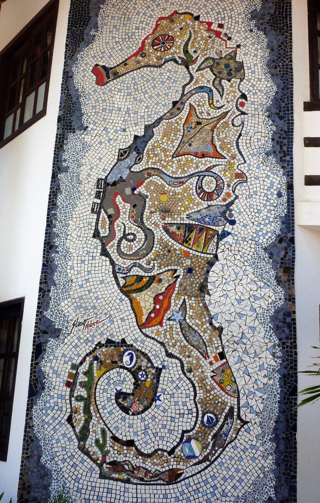schönes Seepferdchen-Mosaik