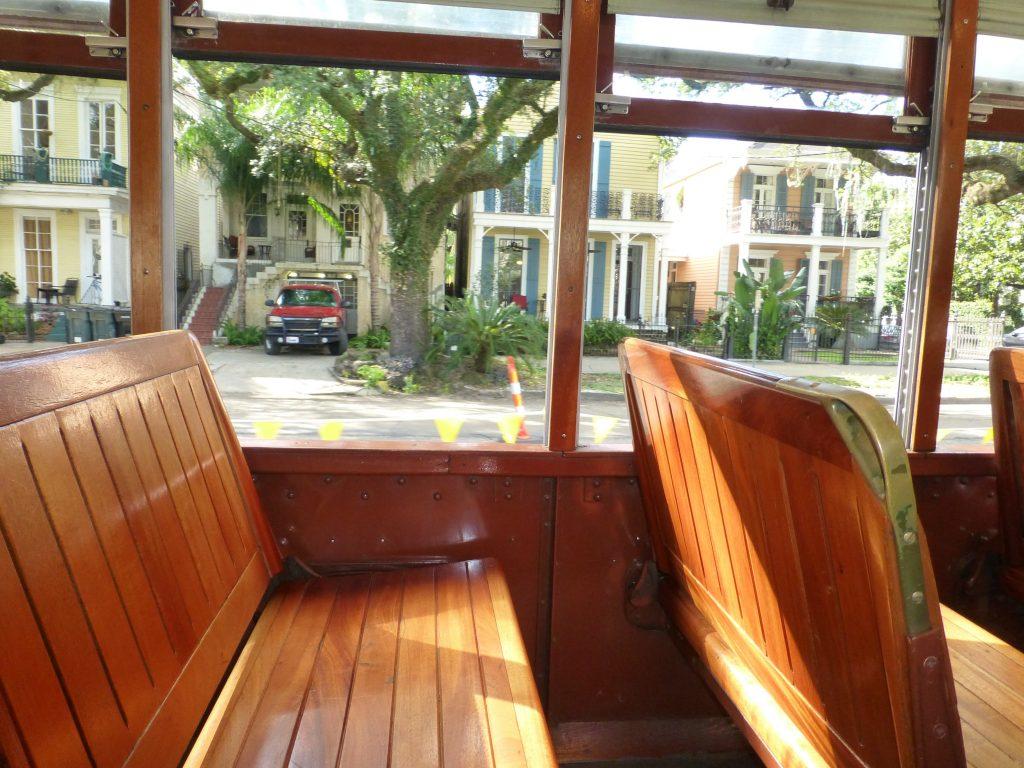 die Straßenbahn von innen