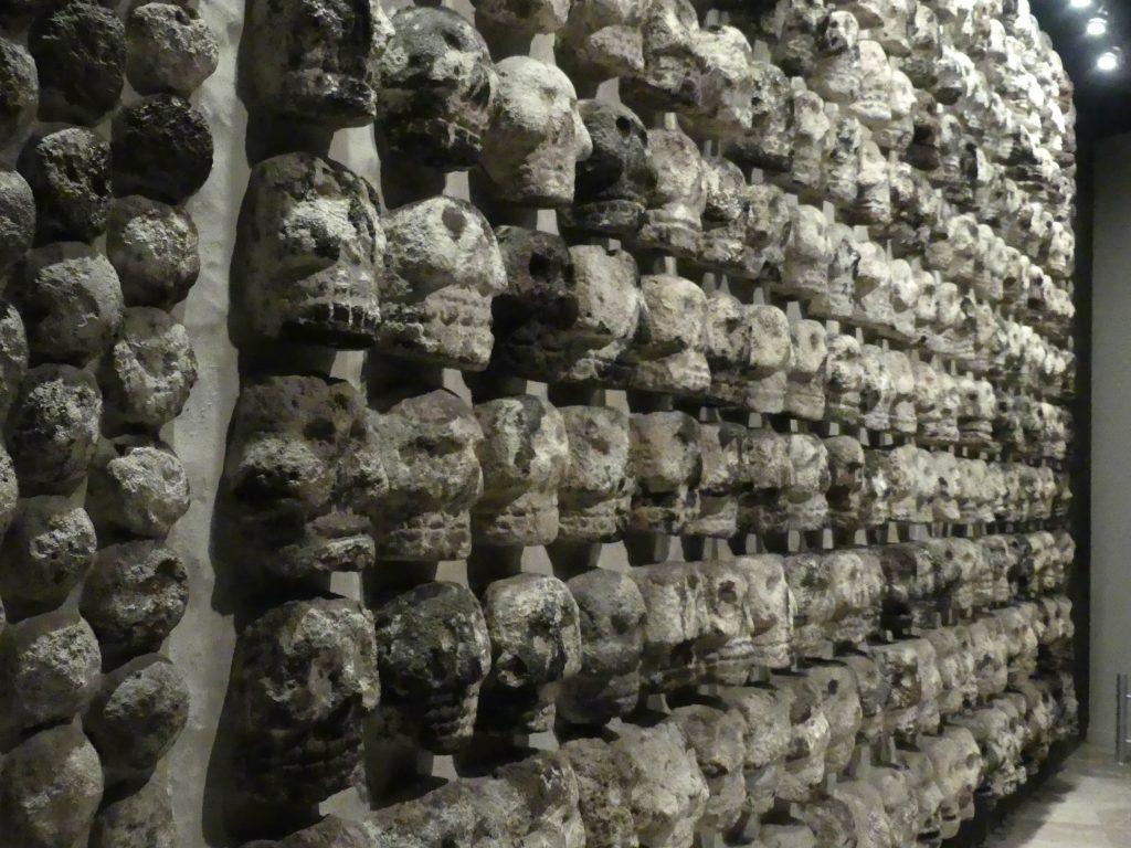 Tenochtitlan, Templo Mayor, Tzompantli im Museum