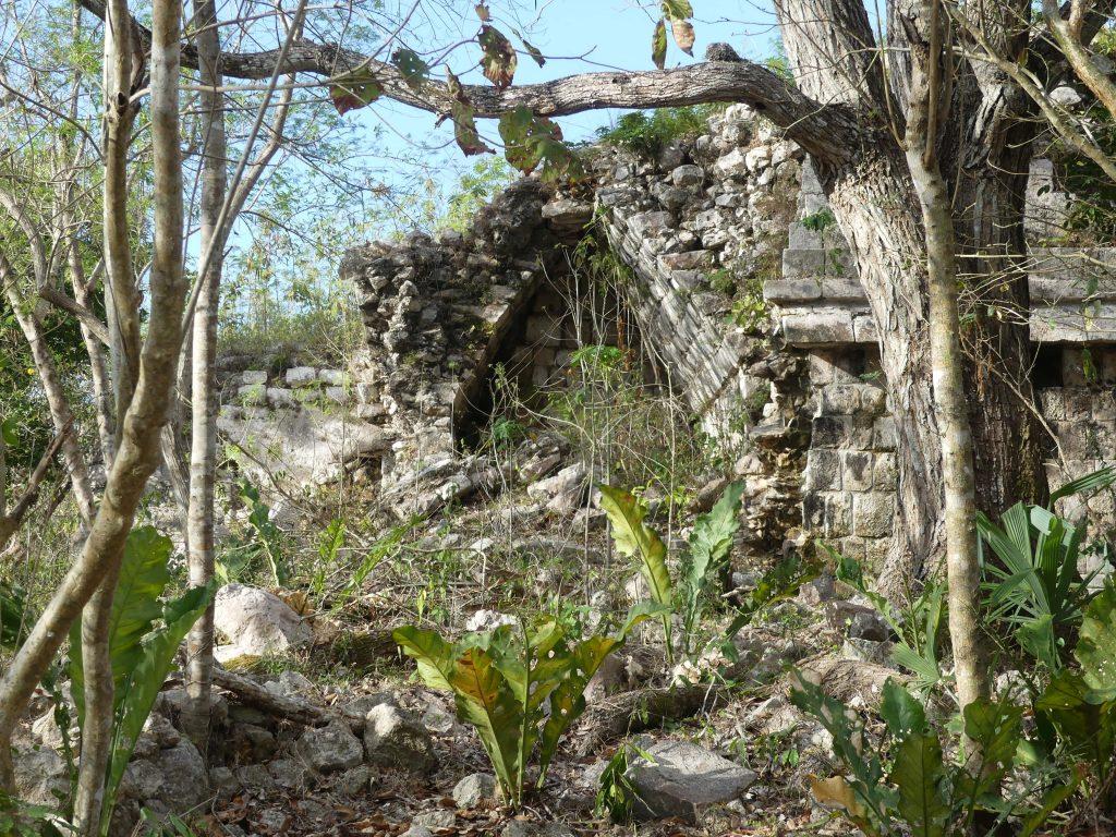 Die ersten ursprünglichen Ruinen kurz nach der Pforte