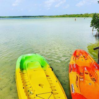 In Ufernähe ist das Wasser der Lagune ganz flach, bis es dann an der Cenote 80 Meter in die Tiefe geht. Keine Angst, ist abgesperrt.🙂🙂🙂