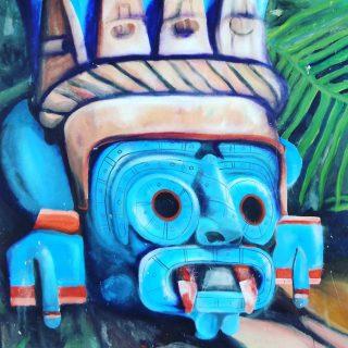 Weiter geht es mit farblich strahlender Streetart in Tulum. Die dargestellte Maske könnte sich auch in einem Maya-Tempel befinden.  . . . #streetart #streetartphotography #artwork #tulumpueblo #tulumvibes #tulummexico #ilovetulum #mayaculture #culturamaya #maya #rivieramaya #rivieramayamexico #entdecken #martinasreisewelt